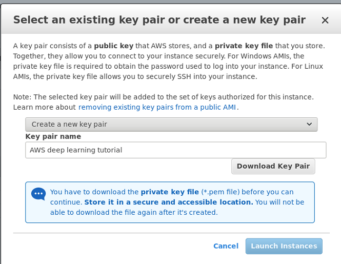 Screenshot: Keypair