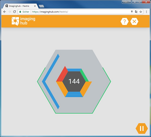 Screenshot Hextris Game small