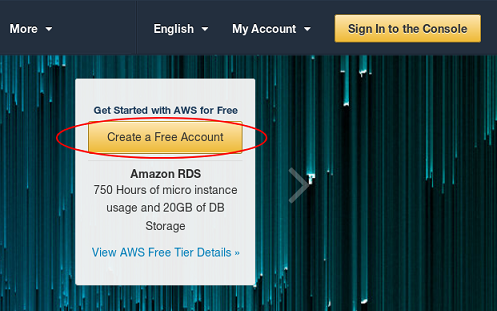 Screenshot: AWS Homepage