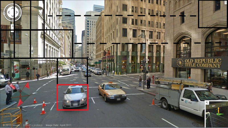 Imaginghub blog - image of street with cars marked