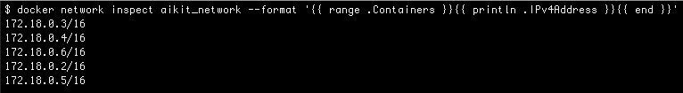 docker inspect command to find out the container addresses